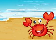 Краб на seashore иллюстрация штока