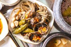 Краб соевого соуса Marinated стоковое фото