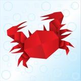 Краб Origami Стоковое Изображение