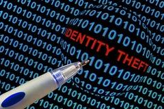Кража личных данных в красном цвете Стоковые Фото