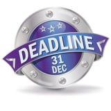 Крайний срок 31 кнопки декабрь бесплатная иллюстрация