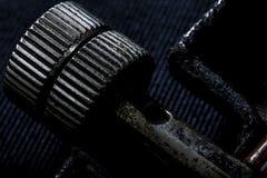 Крайность близкая вверх железного sheave стоковое фото rf