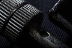 Крайность близкая вверх железного sheave стоковая фотография