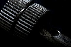 Крайность близкая вверх железного sheave стоковые изображения