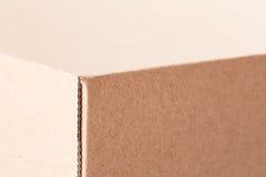 Крайность близкая вверх картонной коробки Стоковое Изображение