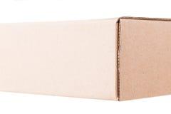 Крайность близкая вверх картонной коробки Стоковая Фотография