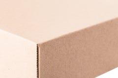 Крайность близкая вверх картонной коробки Стоковое фото RF