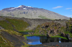 крайность формирует ландшафт Исландии Стоковое Изображение RF