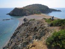 Край полуострова Sithonian Последний пляж eden стоковое изображение rf