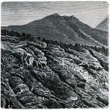 край пропускает лава vesuvius Стоковое Изображение RF