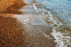 Край пляжа моря и песка стоковое изображение