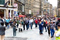 Край 2018 Эдинбурга на миле стоковые фотографии rf