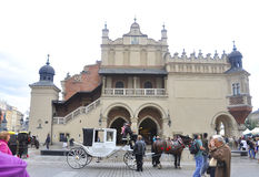 Краков 19,2014 -го август: Вход в Краков, Польша Hall ткани Стоковое Изображение RF