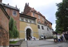 Краков 19,2014 -го август: Дворец в Кракове, Польша Wawel королевский Стоковое фото RF