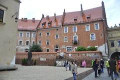 Краков 19,2014 -го август: Дворец в Кракове, Польша Wawel Стоковые Изображения