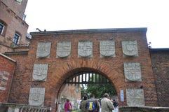 Краков 19,2014 -го август: Дворец Wawel королевский от Кракова Польши Стоковое Изображение RF