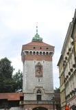 Краков 19,2014 -го август: Историческая башня в Кракове, Польша Стоковое Изображение