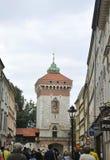 Краков 19,2014 -го август: Старая башня в Кракове, Польша Стоковые Изображения RF