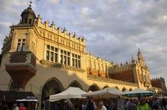 Краков 19,2014 -го август: Ткань Hall в Кракове, Польша Стоковые Изображения