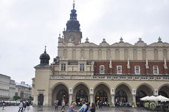 Краков 19,2014 -го август: Ткань Hall, Sukiennice, от Кракова Польши Стоковое Изображение RF