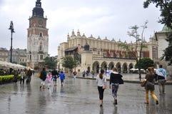 Краков 19,2014 -го август: Ткань Hall, Sukiennice, от Кракова Польши Стоковые Изображения