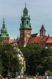 Краков, замок Wawel Стоковая Фотография