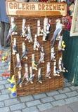 Краков, 19-ое августа 2014 - выйдите стойл вышед на рынок на рынок в Кракове, Польшу Стоковые Фото