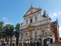 Краков, Польша - 09 13 2017: Городок утра после дождя яркий день солнечный Замок польских королей Стоковые Изображения
