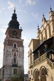 КРАКОВ, ПОЛЬША, главная площадь Стоковое Изображение RF