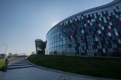 Краков, Польша 01/10/2017 зданий центра конгресса Стоковая Фотография