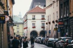 КРАКОВ, ПОЛЬША - 27-ОЕ ИЮНЯ 2015: Кюре церков St Mary Стоковые Изображения