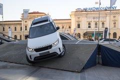 КРАКОВ, ПОЛЬША, привод 18-ое апреля 2018, испытания с пассажирами и o Стоковые Фото