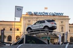 КРАКОВ, ПОЛЬША, привод 18-ое апреля 2018, испытания с пассажирами и o Стоковое Фото