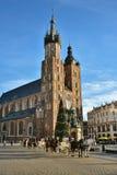 Краков, Польша, церковь Марии Святого Стоковое Фото