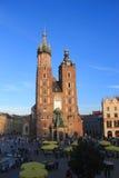 Краков Польша - церковь Mariacki стоковые фото