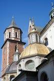 КРАКОВ, POLAND/EUROPE - 19-ОЕ СЕНТЯБРЯ: Собор Wawel в Кракове Стоковые Фотографии RF