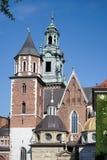 КРАКОВ, POLAND/EUROPE - 19-ОЕ СЕНТЯБРЯ: Собор Wawel в Кракове Стоковые Фото