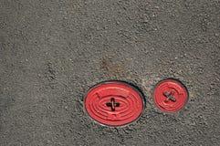 2 крана на дороге Стоковое Фото