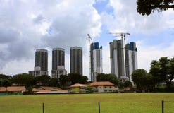 Краны башни в действии Стоковая Фотография RF