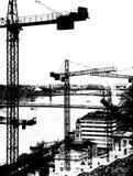 Краны башни над Будапештом. иллюстрация вектора