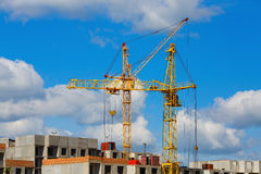 Краны башни на конструкции Стоковое Изображение