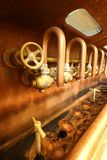 Краны в винзаводе Стоковое Изображение RF