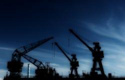 Краны в порте Стоковое Фото