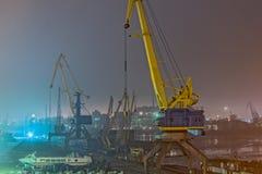 Краны гавани Стоковое Изображение