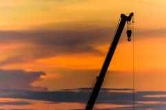 Краны захода солнца Стоковые Фото