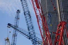 Краны конструкции, Лондон Стоковые Фотографии RF