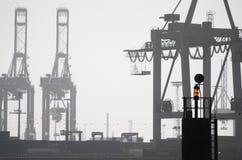Краны на гавани Стоковое Фото