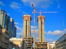Краны строительной площадки Стоковая Фотография RF