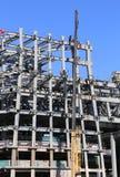Кран в конструкции Стоковая Фотография