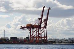 Кран загрузки Перта западной Австралии порта гавани Fremantle Стоковые Изображения RF